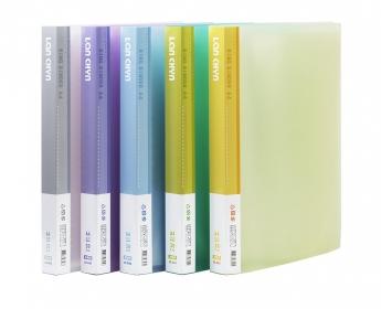 連勤 LANCHYN PP果凍色系30孔活頁式資料夾(附20張內頁)/LC-830